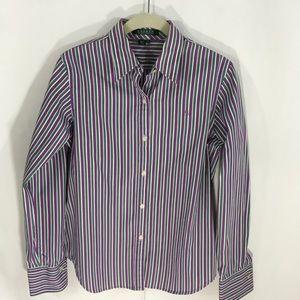 Lauren Ralph Lauren purple stripe shirt